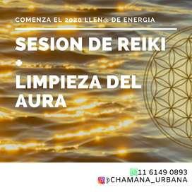 Sesión Reiki sanación chakras limpieza aura holistico
