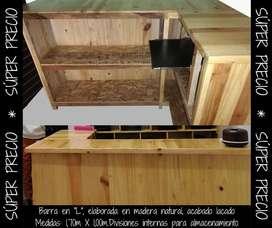 Muebles en madera para Bar o Local