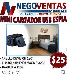 CARGADOR USB CAMARA ESPÍA