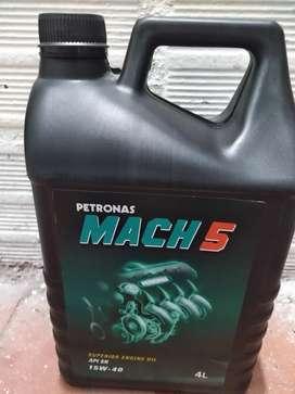 Aceite Petronas Mach 5 SAE 15w40 API SN 4 Litros Motor a Gasolina