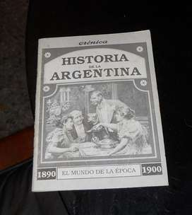 Libro tipo folleto historia de la argentina18901900