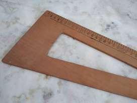 Regla de madera escuadra de costura 30cm