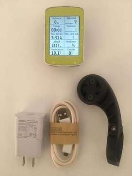 GARMIN EDGE 520 GPS PARA CICLISMO CON SOPORTE DE EXTENSIÓN, CARGADOR Y CABLE DE DATOS