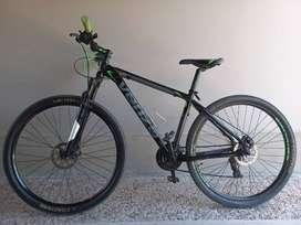 Mountain bike Venzo Skyline Evo R29 16 21v frenos de disco mecánico cambios Shimano Tourney, susp c/ bloqueo