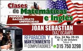Clases de matemáticas e inglés