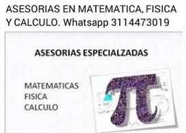 Se dictan clases particulares de matemáticas, física y cálculo.