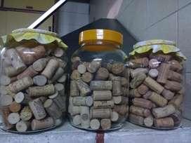 Corchos usados naturales y sintéticos