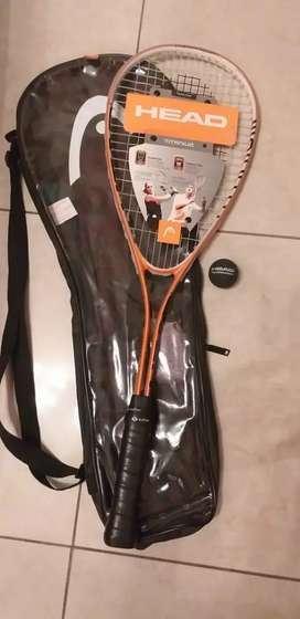 Raqueta squash + funda+pelota head titaniun