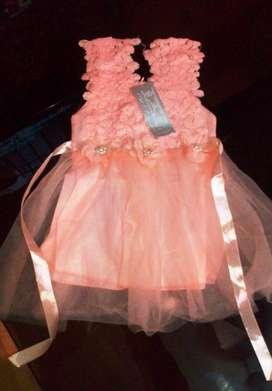 vestido para niñas ,fiesta para 1 año , nuevo