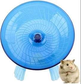 Rueda Plato giratorio para hamster – 18 cm – Celeste