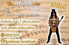 SE OFRECE CLASES DE GUITARRA ACÚSTICA - ELECTRICA