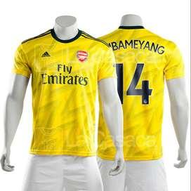 Camiseta Original Arsenal Inglaterra 19-20 Aubameyang Visita futbol