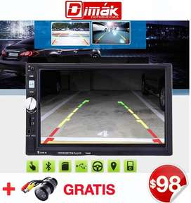 Radio OEM Doble Din Touch 7 Hd/ Mirrorlink,blueth,usb,sd, Garantía
