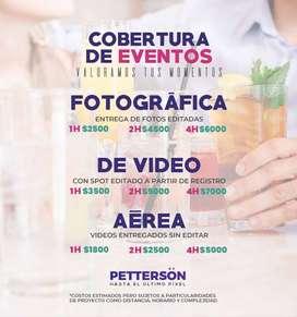 Cobertura Fotográfica, Audiovisual y aérea de eventos