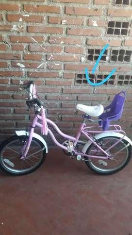 Bicicleta barbie como nueva