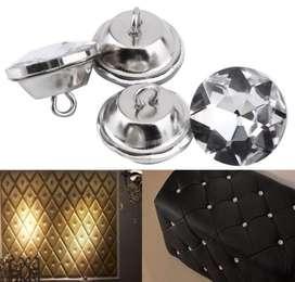 Boton imitacion diamante cristal tapiceria *100 Und