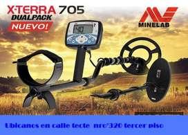 Eficaz Detector de Metales Minelab Modelo X-Terra705 Dual Pack