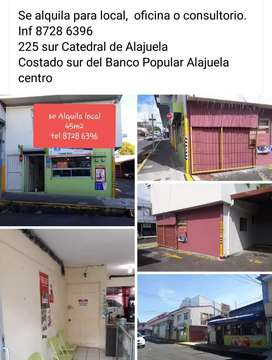 Se alquila local 200 mil. Costado sur del banco Popular Alajuela centro
