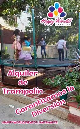 Alquiler de trampolin para tus fiestas o eventos