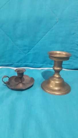 Hermosos candelabros en bronce antiguo