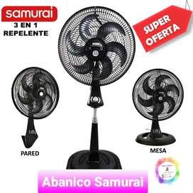 Ventilador Samurai 3 En 1 Repelente Turbo