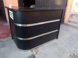 Mostrador acerado color negro