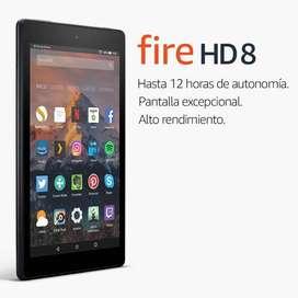 Tablet Fire HD 8 Pantalla 8 pulgadas, 16 GB, 1.5GB Ram Amazon Prime Netflix Doble Camara Regalo Navidad