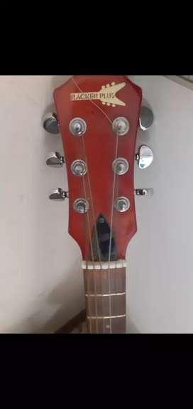 vendo permuto guitarra electoacustica rackerplus c/funda /amplific.30w/3 pedales