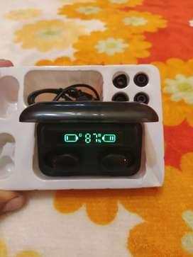 Auriculares Bluetooth tactil,caja power bank
