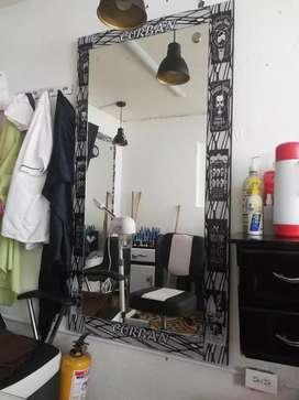 Vendo espejo de peluquería o Barberia