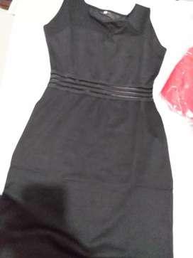Vestido negro tela estress M