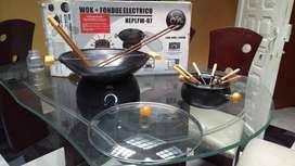 fondue electrico + wok