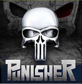 Anillo calavera The Punisher: Acero Inoxidable