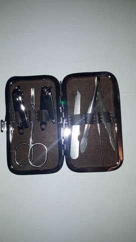 Set Kit Manicure Cortauñas Portátil Acero Inoxidable