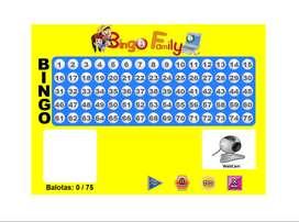 Bingo Balotera 75 Balotas - Para Computador - Familiar