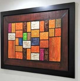 Oleo sobre lienzo abstracto