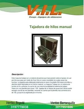 TAJADORA DE HILOS MANUAL PARA QUESO