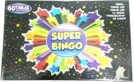 Juego Super Bingo Para Toda La Familia Diferentes tamaños y numero de cartones para que escojas