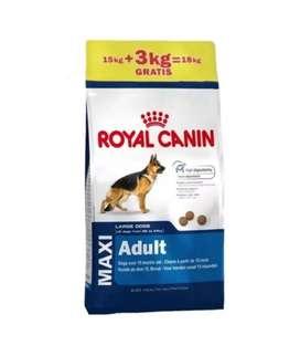 Royal Canin Maxi Adulto x 15kg + 3 kg gratis segunda mano  Wenceslao Escalante, Córdoba