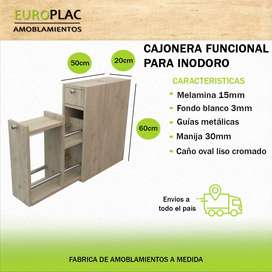 CAJONERA FUNCIONAL PARA INODORO COLOR (Modelo CFI01)