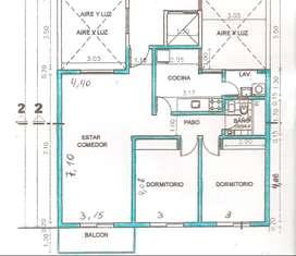 Dueña alq dpto 2 dorm/balcon SIN COMISION (reservado, consulte por otras prox. disponibilidad)