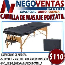 CAMILLA DE MASAJE PORTATIL EN DESCUENTO EXCLUSIVO DE NEGOVENTAS