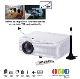 Video Proyector Hd Con Televisión Tdt De 1200 Lumen