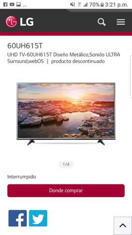 LG SMART TV WEBos 60UH615T.