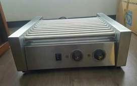 Asador de salchichas, capacidad 20 perros calientes, poco uso.