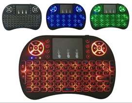 Mini Teclado LED Android Inambrico Touchpad Smart tv Box ILUMINADO