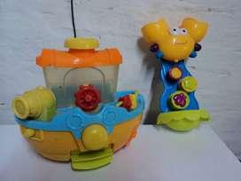 Barco Pirata Bañera Baño De Juguete + juguete de baño colgante