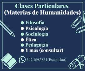 Clases Particulares (Humanidades)