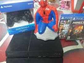 Vendo ps4+mando+2 videojuegos