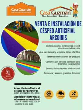VENTA E INSTALACIÓN DE CÉSPED SINTÉTICO ARCOIRIS A NIVEL NACIONAL